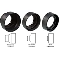 Sonia 3 In 1 Rubber Lens Hood 58mm For Canon Nikon Sony Olympus Pentax & All Other Digital SLR Cameras