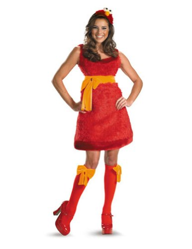 Elmo Adult Sassy Female 4-6 Adult Womens Costume