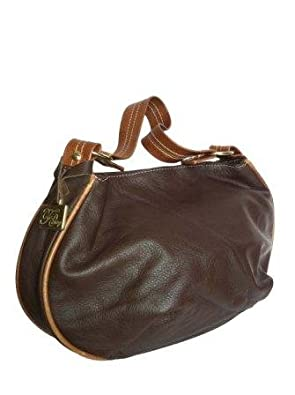 Fgalaze Genuine Leather Hobo Purse Bag Handbag Handmade Adriana-3 in Chocolate Brown