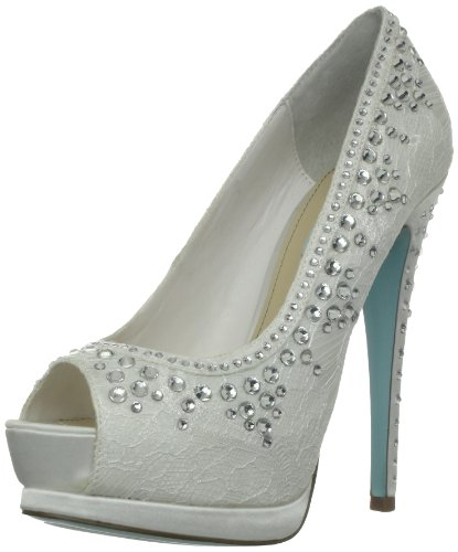 Blue by Betsey Johnson Women's Vow Pump,Ivory Fabric,7.5 M US