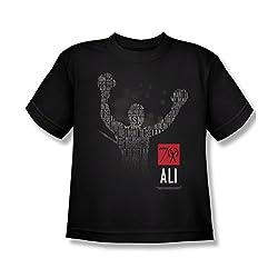 Muhammad Ali 70 Arms Raised Youth T-Shirt