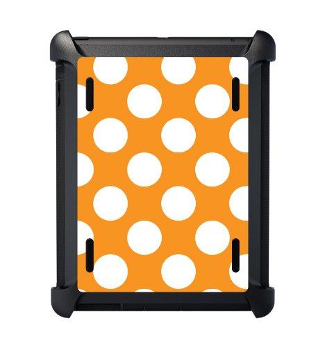 Custom Otterbox Defender Series Case For Apple Ipad Mini / Mini With Retina Display - White & Orange Polka Dots front-555788