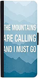 Snoogg Wanderlust Mountains Are Calling 2868 Graphic Snap On Hard Back Leathe...