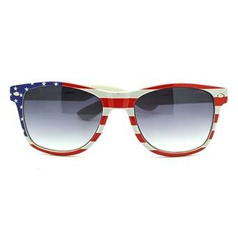 Patriotic American Flag Wayfarer Style Sunglasses