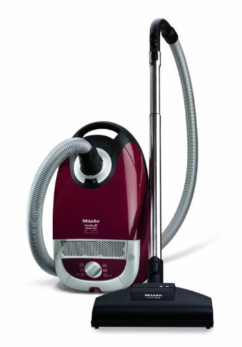 Miele Cat  &  Dog S5261 Bagged Cylinder Vacuum Cleaner, 2200 Watt, Tayberry Red