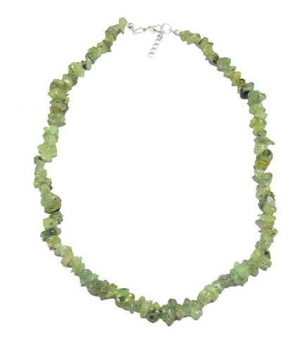 Necklace 45 cm composed of genuine rough jade