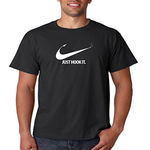 Juiceclouds fishing t shirt just hook it mens tee s 5xl for 4xl fishing shirts