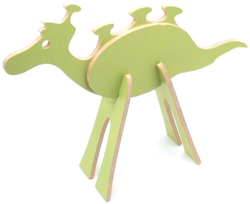Topozoo Space Alien 3D Wood Puzzle, Green