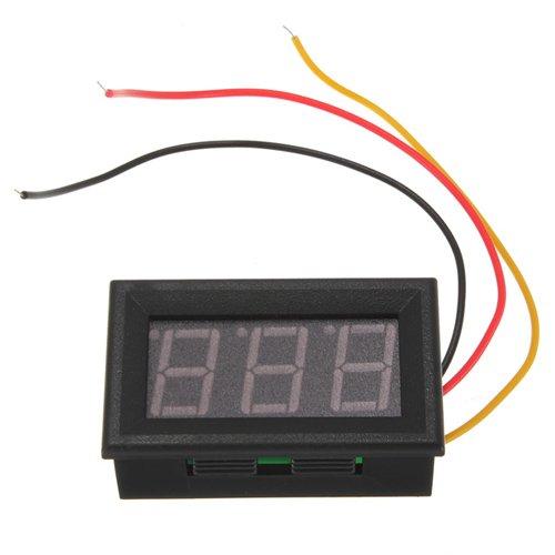 Mini Digital Voltmeter Red Led Panel Meter Dc 0V To 99.9V