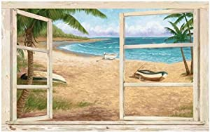 Palm Trees Window Peel & Stick Wall Mural