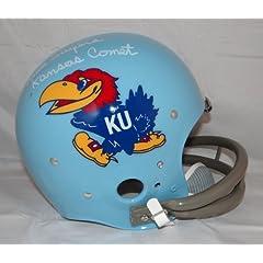 Gale Sayers Autographed F S Kansas Jayhawks *White TK Helmet- JSA Authenticated