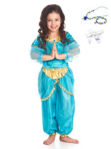 [Little Adventures Arabian Princess Dress Up with Necklace, Bracelet & Hairbow Age 1-3] (Middle Eastern Girl Costume)