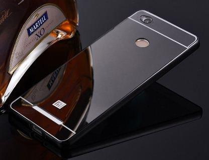 finest selection 588d3 31c53 CEDO Premium Luxury Metal Bumper Acrylic Mirror Back Cover Case For Xiaomi  Redmi 3S Prime - Black