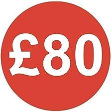 Audioprint Lot. 50000Lot de £80Prix Autocollants 30mm rouge