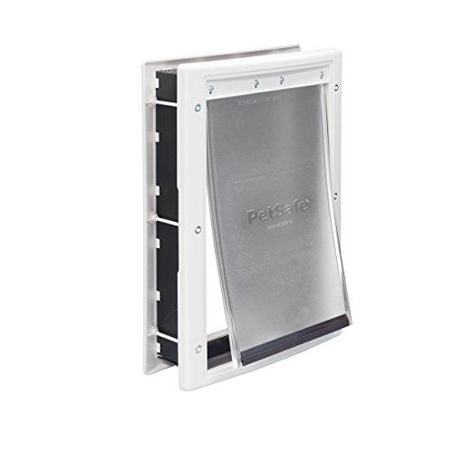 PetSafe Plastic Pet Door with Soft Tinted Flap, White, Medium (Freedom Patio Panel Pet Door compare prices)