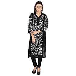 RD Traders Women's Rayon A Line Kurti