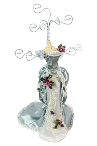 Victorian Tea Party Blue Dress Mannequin Jewelry Holder