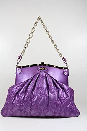 Versace Handbags Versace Purple Leather DBFB747 - CLEARANCE
