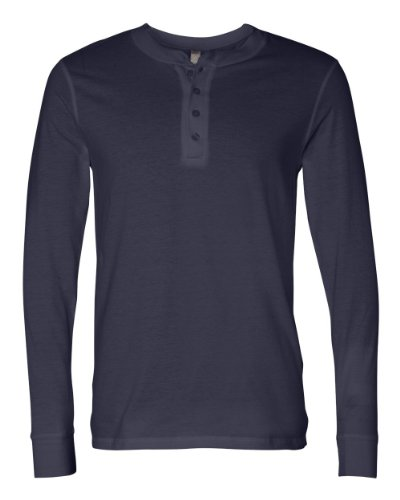 Canvas For Men'S Long-Sleeve Soft Jersey Henley, Navy, X-Large front-232231