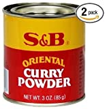 S&B Curry Powder, Oriental, 3 oz (85 g) (Pack of 2)