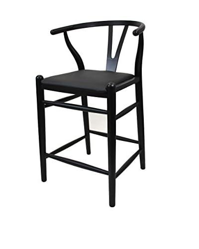Manhattan Living Woodstring Counter Chair, Black