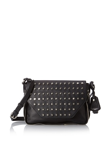 Olivia Harris Women's Shredder Studded Small Messenger Bag, Black