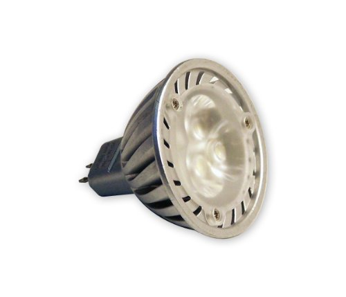 Light Efficient Design Led-4201 Mr16 Base 12-Volt 3-Watt 3-Led Bulb, Daylight