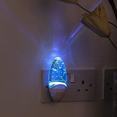 Children's Plug-In Night Light - Colour Changing LED - Light Sensor - Motion Sensor by Festive Lights