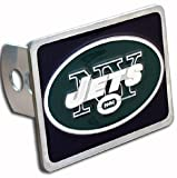 New York Jets Large Zinc Trailer Hitch Cover - NFL Football Fan Shop Sports Team Merchandise