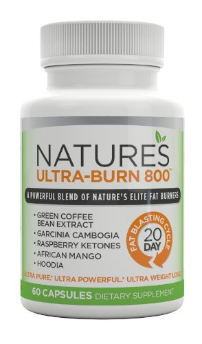 Nature'S Ultra-Burn 800 - Garcinia Cambogia, Green Cofee Bean, Rasberry Ketones, African Mango, & Hoodia! The All-In-One Weightloss Formula With Mother Nature'S 5 Most Powerful Fat Burners!