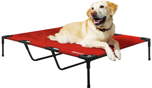 Kakadu Pet Elevated Pet Cot, Fire (Red) - X-Large, 48