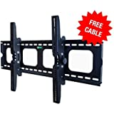 Mount-It! MI-303B Premium Tilting TV Wall Mount Bracket for 32 - 60 inch LCD, LED, or Plasma Flat Screen TV - Super-strength Load Capacity 175 lbs - 15 Degree Tilt Mechanism Up & Down, Max VESA 700x450 with FREE 6 ft HDMI cable