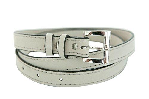 James&Co Womens Faux Leather Ada Belt Cream