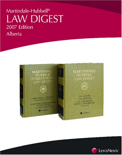 Martindale-Hubbell Law Digest: Alberta