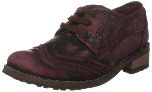 Feud Britannia Women's Cinade Red Casual Lace Up 202325581 3 UK