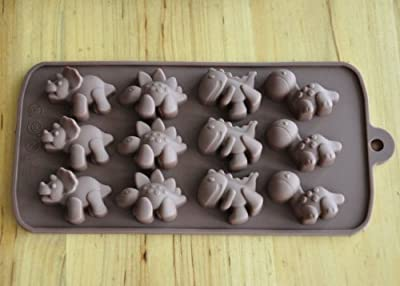 Silicone Dinosaur Chocolate Candy Mold or Ice Tray