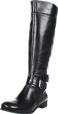 Nine West Women's Shiza Wide Calf Knee-High Boot,Black Wide Calf,5 M US