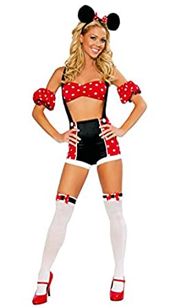 Nanxson(TM) Women's Sexy Mickey Mouse Suit Adult Costume EXW0039