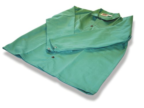 US Forge 99421 9-Ounce 30-Inch Fire Stop Jacket with Snap Fasteners, XL, Green