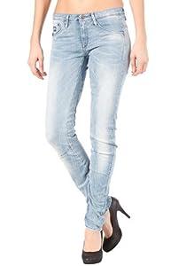 Womens 3301 Relexed Tapered Comfort Alpine Denim Pant light aged