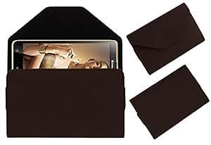 Acm Premium Pouch Case For Lenovo Golden Warrior S8 Flip Flap Cover Holder Brown
