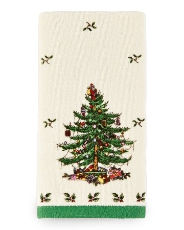 Spode Christmas Tree Fingertip Towel NEW