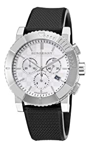 Burberry Men's BU2300 Trench Chronograph White Chronograph Dial Watch