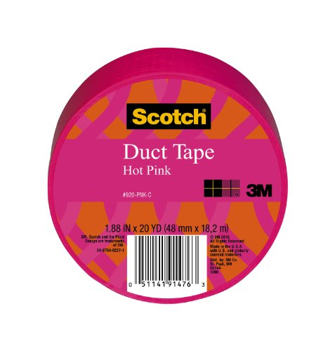 Scotch Duct Tape, Pink, 1.88-Inch By 20-Yard front-55632