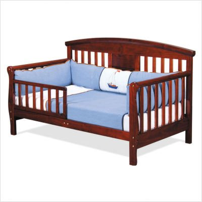 Cherry Sleigh Toddler Bed Toddler Bed in Cherry