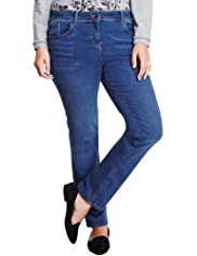 Plus Sculpt & Lift Straight Leg Denim Jeans