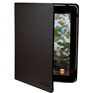 CrazyOnDigital Black Leather Case For Apple iPad