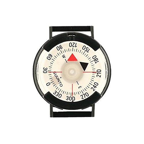 Suunto, Bussola da polso M-9 Attachable Compasses M-9BlackBlackNh With Velcro Strap, Nero (black), Taglia unica