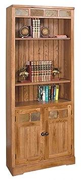 Sunny Designs 2862RO-BD Sedona Bookcase/Doors