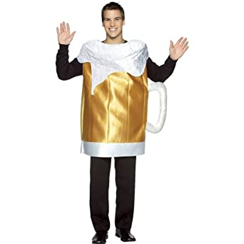 Beer Mug Costume Costume - One Size - Chest Size 42-48